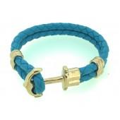 Turquoise Leather Phrep Bracelet